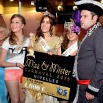 Finalistes du concours  Miss Carnaval de Nivelles 2015 - Avec Paolina Peeters, Céline Larelle et Dolores De Meulemeester - Waux-Hall de Nivelles, 13/02/2015 (Photo : Algeo)